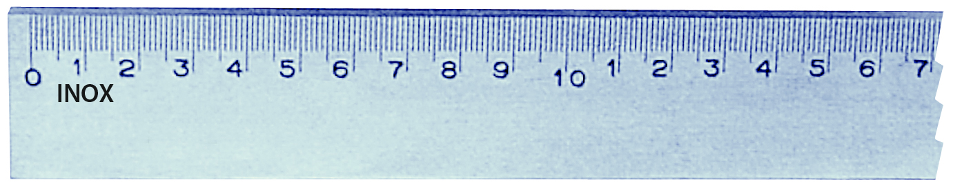 Immagine di Riga millimetrata in acciaio inox